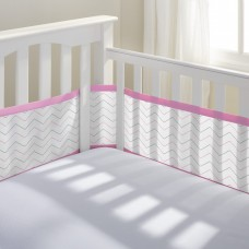 Breathable Baby - Tour de lit en filet - Chevron Rose