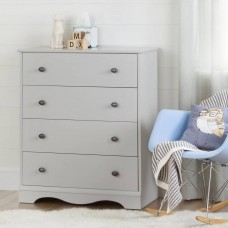 South Shore - Angel - Commode 4 tiroirs - Gris clair