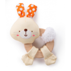 Bright Starts - Jouet de dentition en bois - Clutch & Hold - Lapin