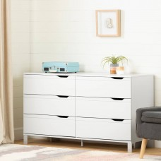 South Shore - Kanagane - Commode de rangement 6 tiroirs - Blanc solide