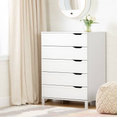 South Shore - Kanagane - Commode de rangement 5 tiroirs - Blanc solide