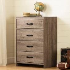 South Shore - Hankel - Commode 4 tiroirs - Chêne vieilli