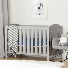 South Shore - Angel - Lit de bébé avec barrière de transition - Gris clair