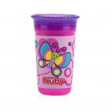 Nuby - Gobelet No-Spill™ 3D 360° Wonder Cup™ 300 mL - Papillons 5310542