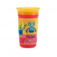 Nuby - Gobelet No-Spill™ 3D 360° Wonder Cup™ 300 mL - Robots 5310542