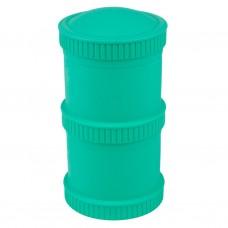 Re-Play - Snack Stacks - Contenants interchangeables et empilables en plastique recyclé - Aqua