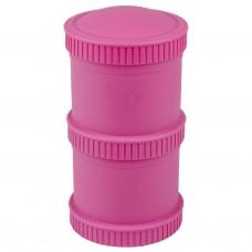 Re-Play - Snack Stacks - Contenants interchangeables et empilables en plastique recyclé - Rose
