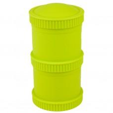 Re-Play - Snack Stacks - Contenants interchangeables et empilables en plastique recyclé - Vert