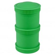 Re-Play - Snack Stacks - Contenants interchangeables et empilables en plastique recyclé - Vert kelly