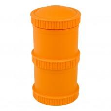 Re-Play - Snack Stacks - Contenants interchangeables et empilables en plastique recyclé - Orange