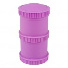 Re-Play - Snack Stacks - Contenants interchangeables et empilables en plastique recyclé - Mauve