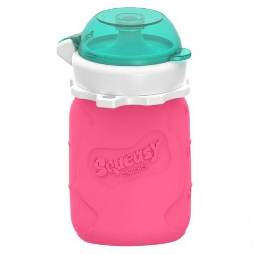 Squeasy - Contenant pour purées 3.5 oz. - Rose