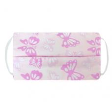 Kushies - Masque de protection lavable - Papillon rose