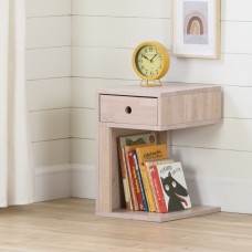 South Shore - Sweedi - Table de chevet 1 tiroir en bois massif - Rose