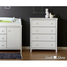 South Shore - Cotton Candy - Commode 4 tiroirs - Blanc solide