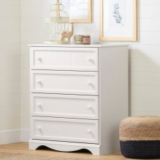 South Shore - Savannah - Commode 4 tiroirs - Blanc solide