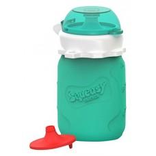 Squeasy - Contenant pour purées 3.5 oz. - Aqua