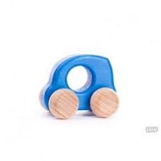 BAJO - Petite voiture de bois - Bleu