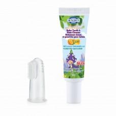 Nuby - Entièrement naturel - Gel nettoyant et brosse de doigt