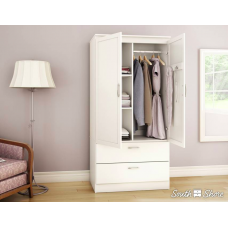 South Shore -  Acapella - Armoire penderie - Blanc solide