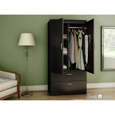 South Shore -  Acapella - Armoire penderie - Noir solide