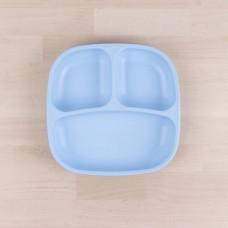 Re-Play - Naturals - Assiette divisée de 7 po en plastique recyclé - Bleu glacé