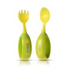 Kidsme - Ensemble fourchette et cuillère pour bébé - Lime