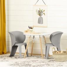 South Shore - Sweedi - Ensemble table et chaises pour enfants - Blanc et gris