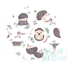 Face de Pet - Compresses d'allaitement imperméable et lavables - Hérisson (motif exclusif)