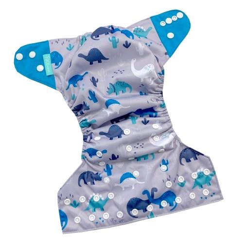 Face de Pet - Couches lavables à poche - Dinosaure (motif exclusif)