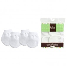Kushies - Mitaines anti-égratignures - Paquet de 2 - Blanc