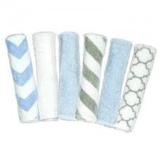 Kushies - Débarbouillettes paquet de 6 - Imprimé bleu
