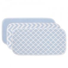 Kushies - Couvre-épaule - Paquet de 3 - Bleu