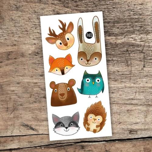 Pico Tatoo - Tatouage pour enfants - Les animaux de la forêt