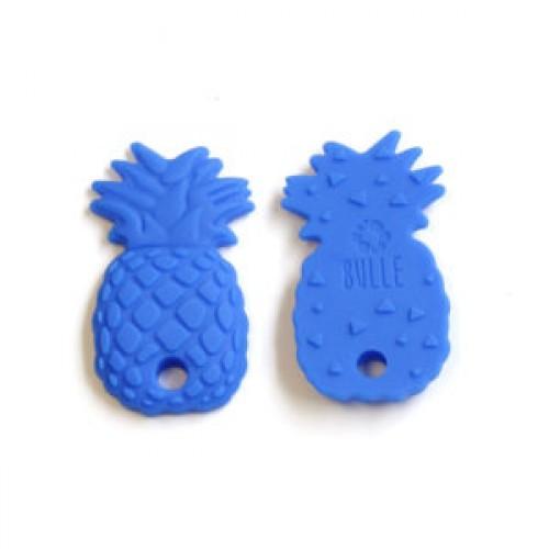 Bulle Bijouterie - Jouet de dentition Ananas Bleu royal
