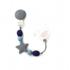 Bulle Bijouterie - Attache-suce etoile Gris, bleu acier et marine