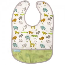 Kushies - Cleanbib - Bavette imperméable - Petit safari blanc