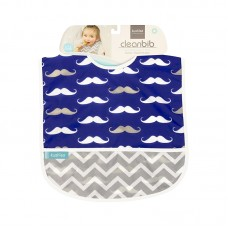 Kushies - Cleanbib - Bavette imperméable - Moustaches marines