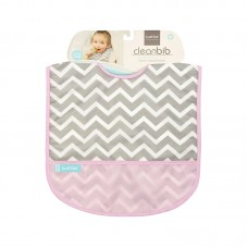 Kushies - Cleanbib - Bavette imperméable - Chevrons roses
