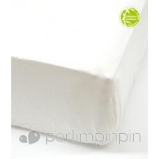 Perlimpinpin - Drap-housse contour en bamboo pour lit de bébé - Ivoire