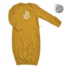 Perlimpinpin - Chemise de nuit en bambou pour nouveau-né - Moutarde