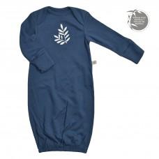 Perlimpinpin - Chemise de nuit en bambou pour nouveau-né - Marine