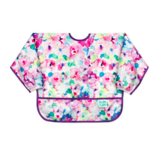 Bumkins - Bavette avec manches - Fleurs pastels