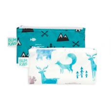 Bumkins - Petits sacs à collation - Paquet de 2 - Nature