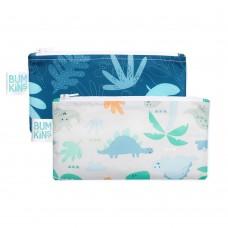 Bumkins - Petits sacs à collation - Paquet de 2 - Bleu tropique