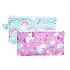 Bumkins - Petits sacs à collation - Paquet de 2 - Licornes