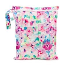 Bumkins - Sac de transport / Wetbag imperméable - Fleurs pastels