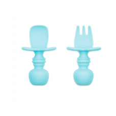 Bumkins - Chewtensils - Ustensiles en silicone - Bleu