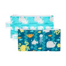 Bumkins - Petits sacs à collation - Paquet de 2 - Amis de la mer