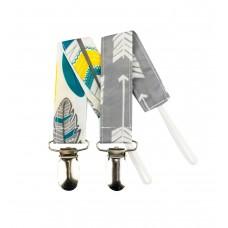 Bumkins - Attache-suce - Flèches et plumes (Paquet de 2)